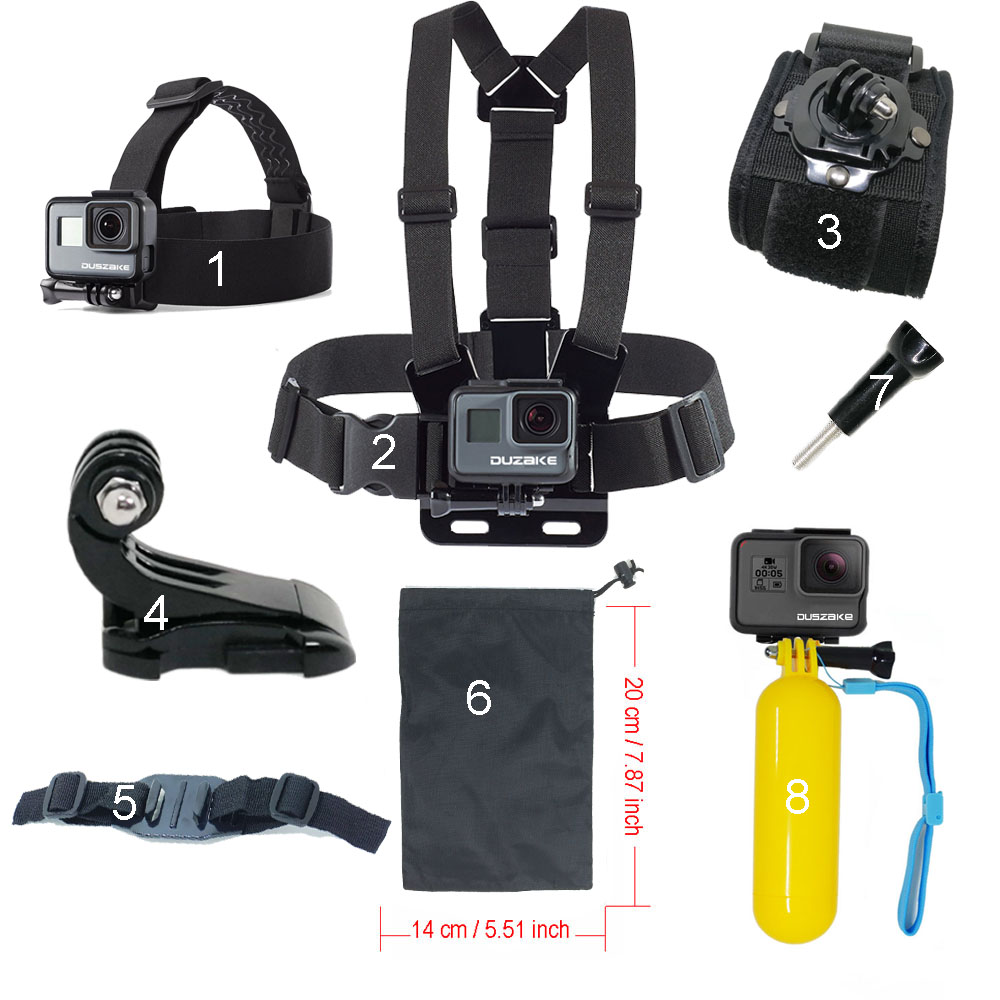 Set For Gopro Hero 5 Tilbehør Flytende Gitter For Xiaomi Yi 4K SJCAM SJ4000 Stropp For Go Pro 6 Monteringssett For EKEN Action kamera
