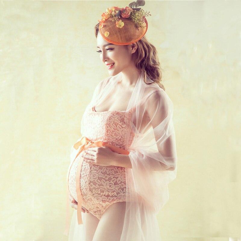 Díszes szülési ruha fotózás csipke ruhák props terhes nők terhes fotó lövés testápoló baba zuhanyzók props ruhák