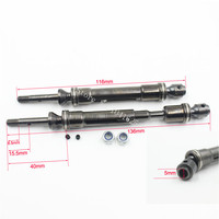 For Traxxas Steel Constant Velocity Shafts Rear Driveshaft Assembly CVD Fit 1 10 Slash 4x4 Stampede