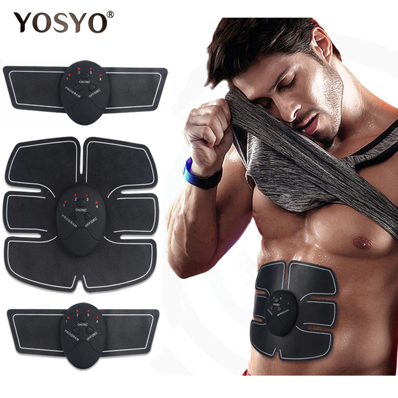 EMS Wireless Muscle Stimulator Trainer Smart Fitness Abdominal Training Electric Weight Loss Stickers Body Slimming Belt Unisex adapter