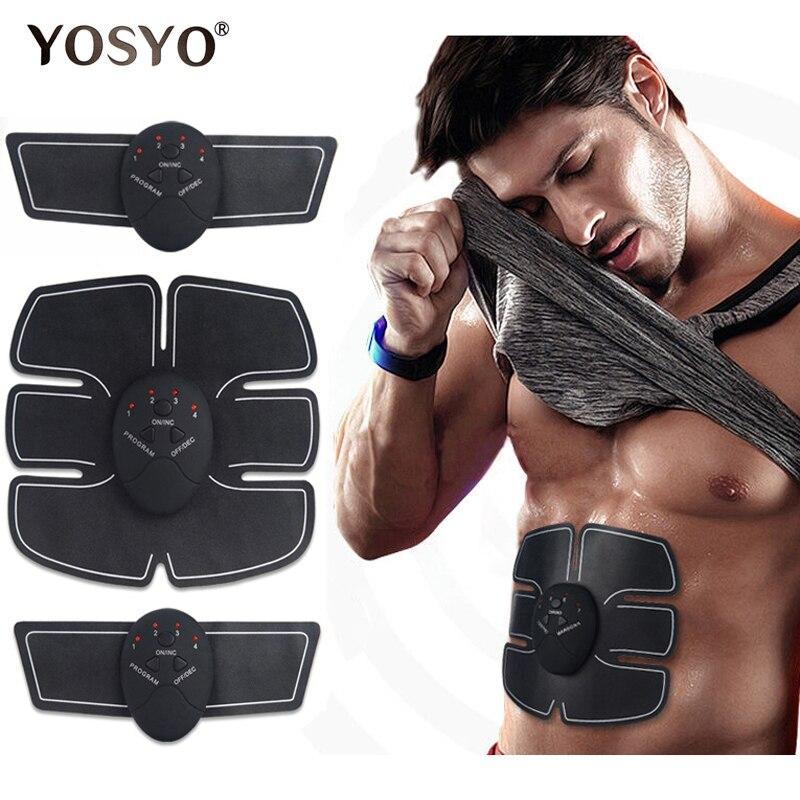 EMS inalámbrico estimulador muscular entrenador de Fitness inteligente Abdominal formación de pérdida de peso pegatinas cuerpo cinturón de adelgazamiento Unisex