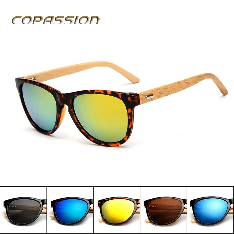 Retro wood sunglasses women men brand design handmade bamboo wooden sun glasses bambu Goggles uv400 eyewear oculos gafas de sol