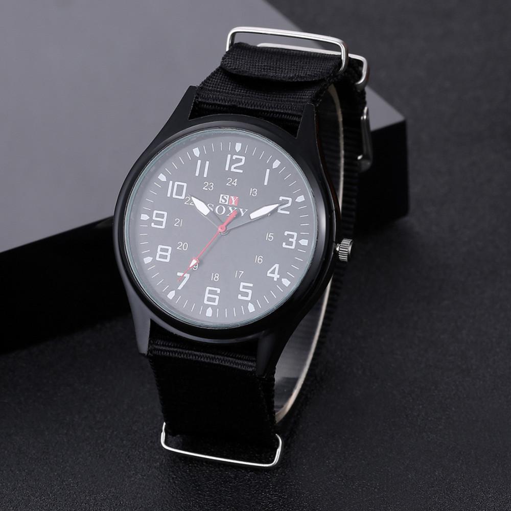 แฟชั่นไนล่อนนาฬิกาผู้ชายยี่ห้อใหม่SOXYกีฬาของผู้ชายควอตซ์ข้อมือทหารบางนาฬิกาอนาล็อกผู้ชา... 8