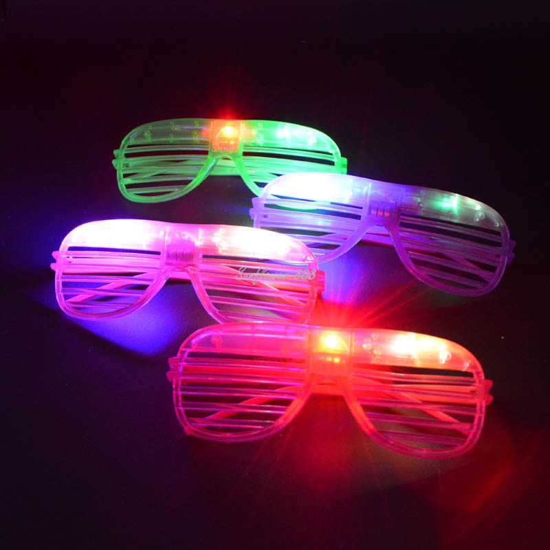 Motivated Children Adults Led Light Up Leaves Leaf Shutter Glasses Glowing Flashing Eye Glasses Eyewear Rave Party Dress Decor Halloween Costumes & Accessories Novelty & Special Use
