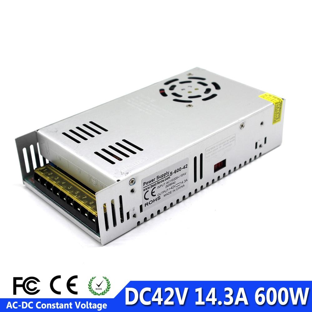 Switch Power Supply DC 42V 14 3A 600W Led Driver Transformer 110V 220V AC to DC42V