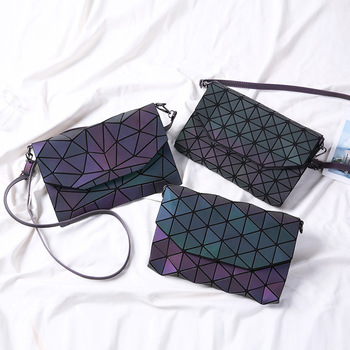 Envelope Luminous Bag With Geometric Patterns
