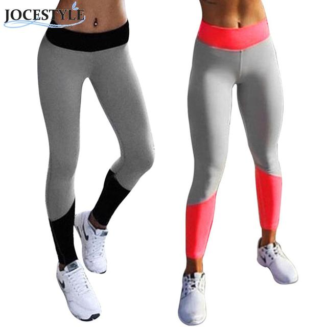 Women High Waist Fitness Workout Leggings Stretch Patchwork Comfortable Black Pink Quick-drying Wear Trousers Pants