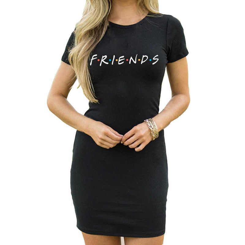 גבירותיי חברים הדפסה קצר שרוול O-צוואר קיץ מזדמן שחור Midi שמלה סקסי מועדון לילה המפלגה מקרית שמלת היכרויות