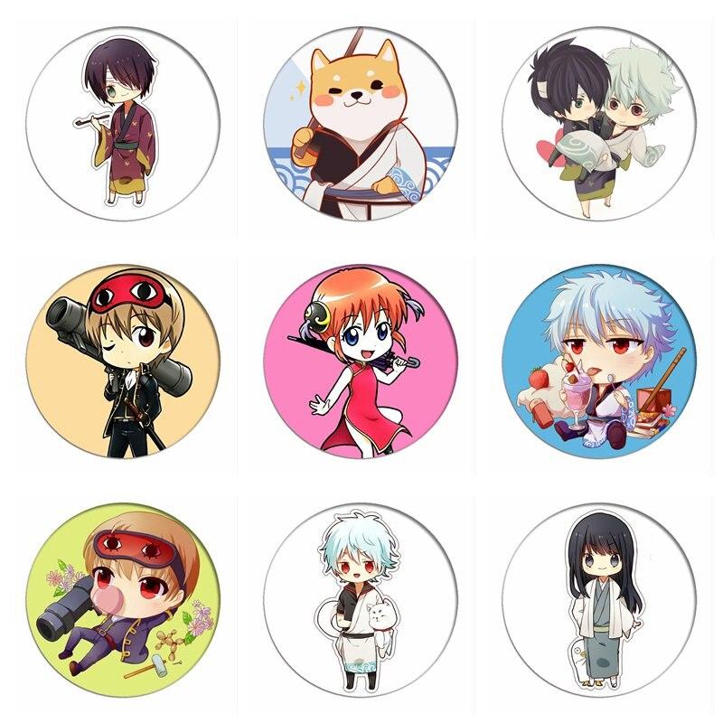Anime Gintama Q Version Cosplay Badges Sakata Gintoki Brooch Pins Katsura Kotarou Icon Collection Breastpin For Bag Clothes Aliexpress