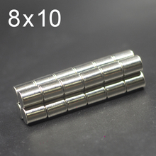 10/20/50/100Pcs 8x10 Neodymium Magnet 8mm x 10mm N35 NdFeB Round Super Powerful Strong Permanent Magnetic imanes Disc 8x10 10 20 50 100pcs 10x4 neodymium magnet 10mm x 4mm n35 ndfeb round super powerful strong permanent magnetic imanes disc 10x4