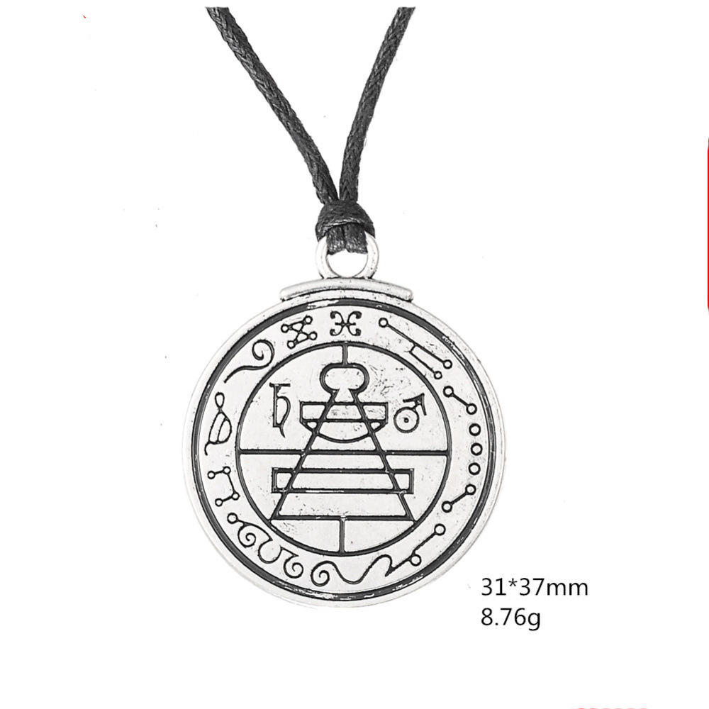 Pendant Necklaces Delicious 10pcs Talisman Secret Seal Of Solomon Pentacle Pendant Solomon Witchcraft Worship Amulet Seal Seal Necklace Jewelry Necklace To Have Both The Quality Of Tenacity And Hardness Necklaces & Pendants