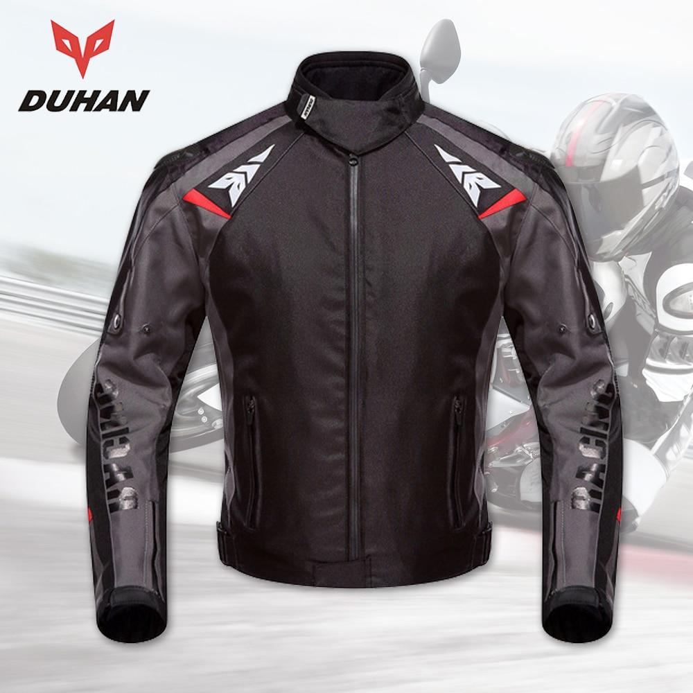 DUHAN Motorcycle Jackets Men Waterproof Motorcycle Racing Jacket Protective Motocross Riding Jacket Professional Protector все цены