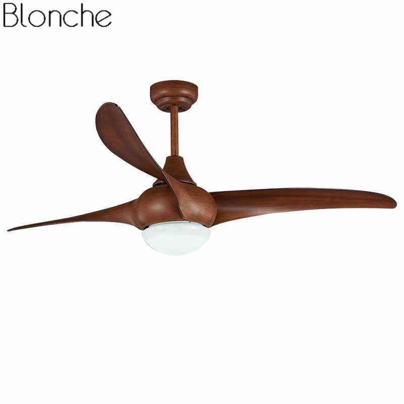 Винтаж 42 дюймов светодиодный потолочный вентилятор с дистанционное управление освещением для Гостиная Спальня дома промышленный деревянный потолочный вентилятор Лампа 220 V