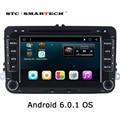 2 din Android 6.0.1 Автомобильный радиоприемник gps-навигация для VW passat b6 гольф 5 Jetta Quad Core 7 дюймов 1024*600 dvd-плеер Автомобиля с CAN-BUS