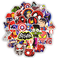 50pcs superhero computer sticker laptop skin vinyl sticker refrigerator suitcase decoration Mixed decal for MacBook/HP/Xiaomi