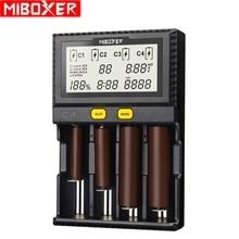 Miboxer C4 LCD สมาร์ท Batterie Ladegerat ขนสัตว์ Li   Ion IMR ICR LiFePO4 3.7 โวลต์ 18650 14500 26650 21700 AAA Batterien 100 800 มิลลิแอมป์ชั่วโมง 1.5A