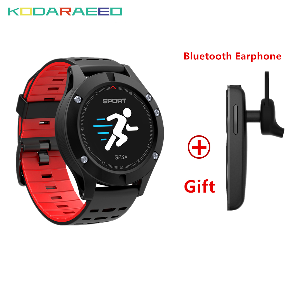 Hot F5 GPS Smart watch Altimeter Barometer Thermometer Bluetooth 4.2 Smartwatch Wearable devices for iOS Android+Free Headset цена