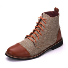 High Quality British Men Leather Boots Spring Autumn Winter Shoes Men Fashion Lace-up Boots PU Leather botas masculina winter shoes men fashion lace up ankle boots high quality men british boot autumn winter male botas big size 47 0