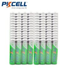 Atacado 100 pces pkcell 1.2v 850mah nimh aaa baterias recarregáveis pré carregadas ciclos 1200 vezes