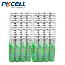 Venta al por mayor 100 Uds PKCELL 1,2 V 850mAh NIMH AAA pilas recargables pre cargadas ciclos 1200 veces