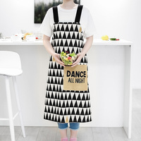 Nordic style Cotton printing aprons Yellow / geometry pattern Thickening apron for Baker Bar BBQ Work Wear 01