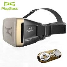 Nueva llegada usable dispositivos playglass caja gafas 3d gafas de realidad virtual vr casco para 4-6 pulgadas android y iphone
