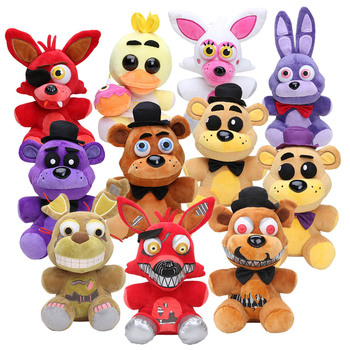 Yeni stil beş Nights freddynin 4 peluş oyuncaklar Anime altın Freddy Foxy Bonnie Chica FNAF doldurulmuş hayvanlar oyuncak bebekler için çocuk