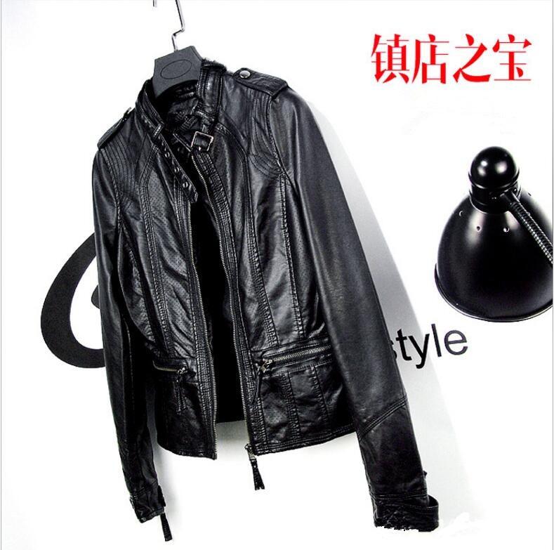 Pelle Autunno Modo Breve Nero Moto Giacca 5xl Il Giacche Donne Signore Cuoio E Più Formato Di Invernale Cappotto Primavera I6pqwvF