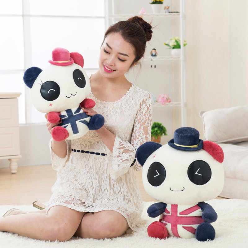 Lovely anime panda doll pillow couple bear cuddly toy bear doll birthday gift baby toys