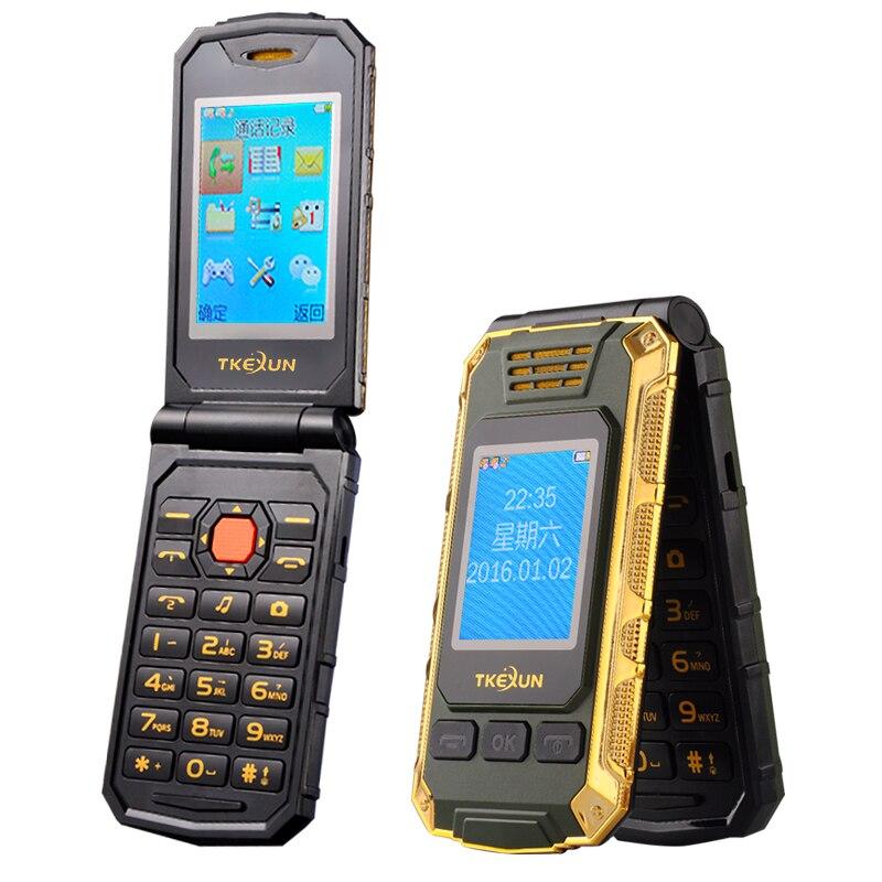 TKEXUN G5 Flip Double dual Screen Dual SIM Card 2800mAh long standby touch screen FM mobile