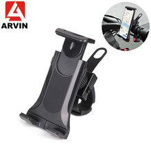ARVIN Adjustable Bicycle Bike Motorcycle Tablet Phone Holder For 4-10.5 inch Universal  Handlebar Clip GPS Mount iPhone X XR
