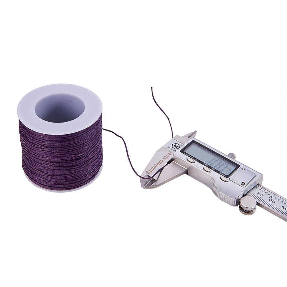 1mm 84 m/rouleau fil coton cordons ciré cordon perles cordon ciré ficelle cire cordon pour bijoux à bricoler soi-même faisant des Bracelets accessoires