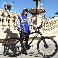 21 Speed Mountain Bike 26 Inch High Carbon Steel Dual Disc Brakes One Wheel Speed Damping Men Women Student Bicycle
