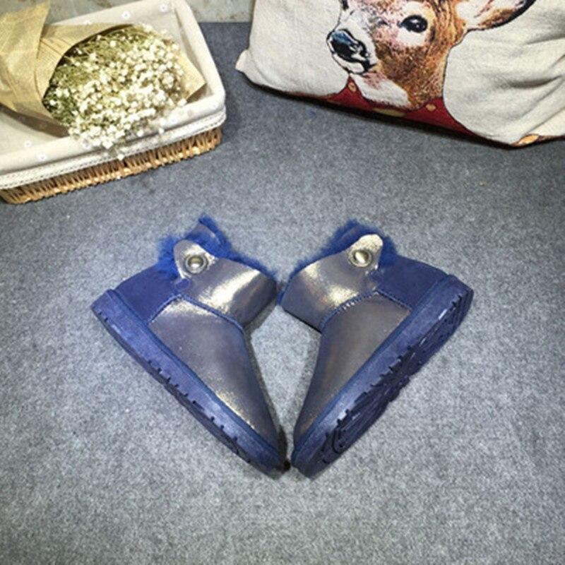 De Bleu Neige Gratuite Leopard rose Véritable navy Bottes golden Livraison Femme Classiques Gros En Réel Femmes 2018 Chaussures gris Blue D'hiver Mouton Des Peau O4wTYFq
