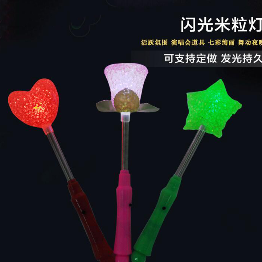Funny Star/ Rose/ Heart Shape Design Available Light-up LED Toys Party Toys
