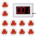 Coaster Pager Restaurante Chamada sem fio Sistema de Paginação Com 1 Exibição do Host + 10 Botão de Campainha de Mesa Pager Restaurante Equipamentos F4421