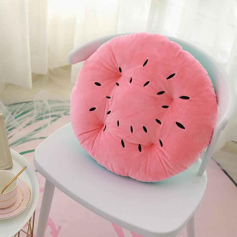 SENNLLJUNG10CM толстый диаметр 45 см милая и модная подушка в форме фруктов мягкая плюшевая тканевая диванная подушка подушки для гостиной
