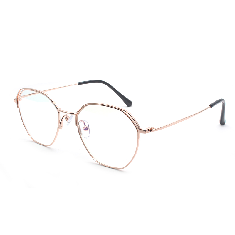 Reven Jate 80112 Full Rim Alloy Metal Eyeglasses Frame For Men And Women Optical Eyewear Glasses Frame 4 Colors