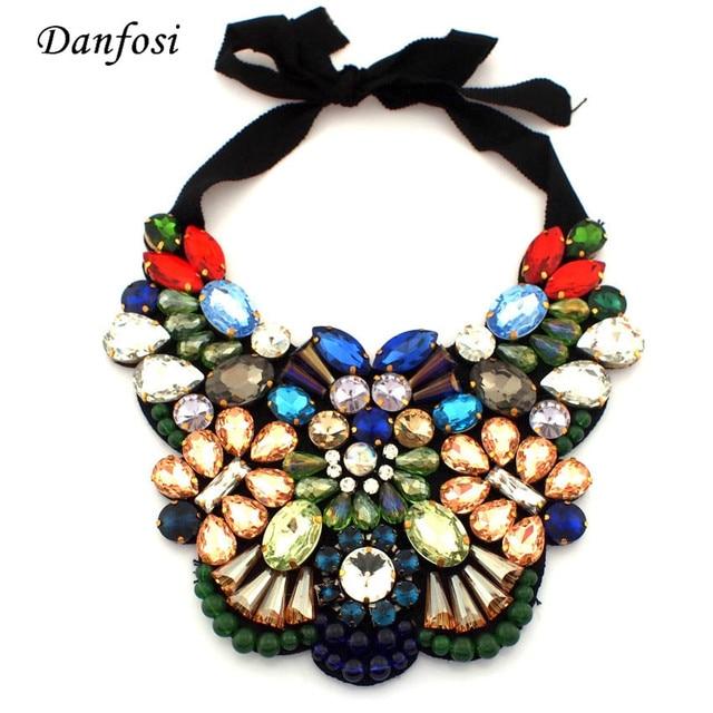 Chrismas Regalo Mujeres Collar de Colgantes de Cristal de Lujo Hecho A Mano Vestido de Fiesta Decoración de La Joyería Collares de Moda, N2510