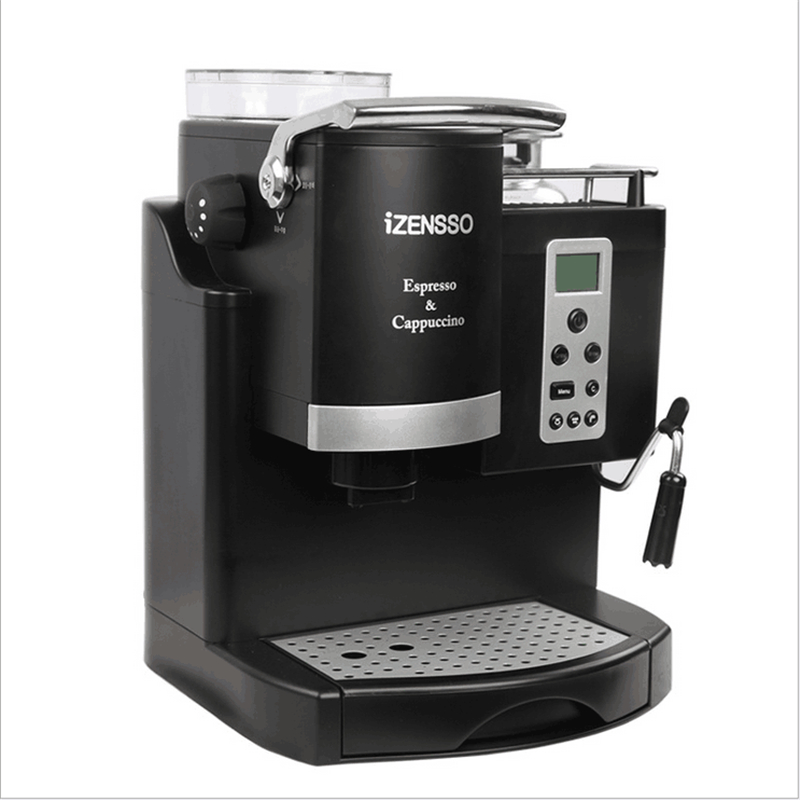 lcd semi automatic coffee maker espresso machine high pressure steam with froth milk for home or. Black Bedroom Furniture Sets. Home Design Ideas