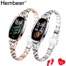 цена на Smart Bracelet Watch for Women Blood Pressure Heart Rate Monitor Smart Band Wristband Fitness Tracker Wearable for iOS Android
