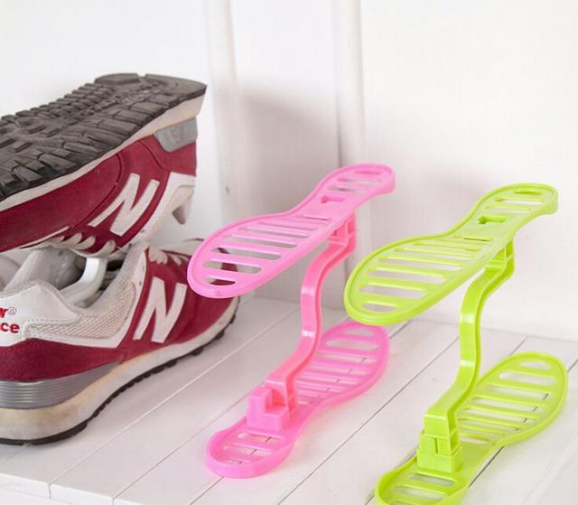 1pcs Shoe Rack Plastic Shoe Storage holder rack shelf storage ...