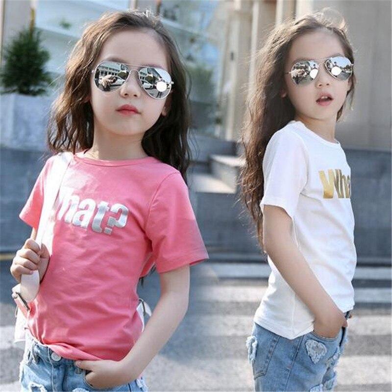 Блузка для девочек 2019 летние блузки маленьких рубашки кружевные модные топы