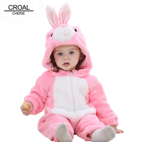 CROAL CHERIE Panda Baby Girls Clothes Animal Newborn Baby Rompers Costume Winter Fleece Clothes For Boys