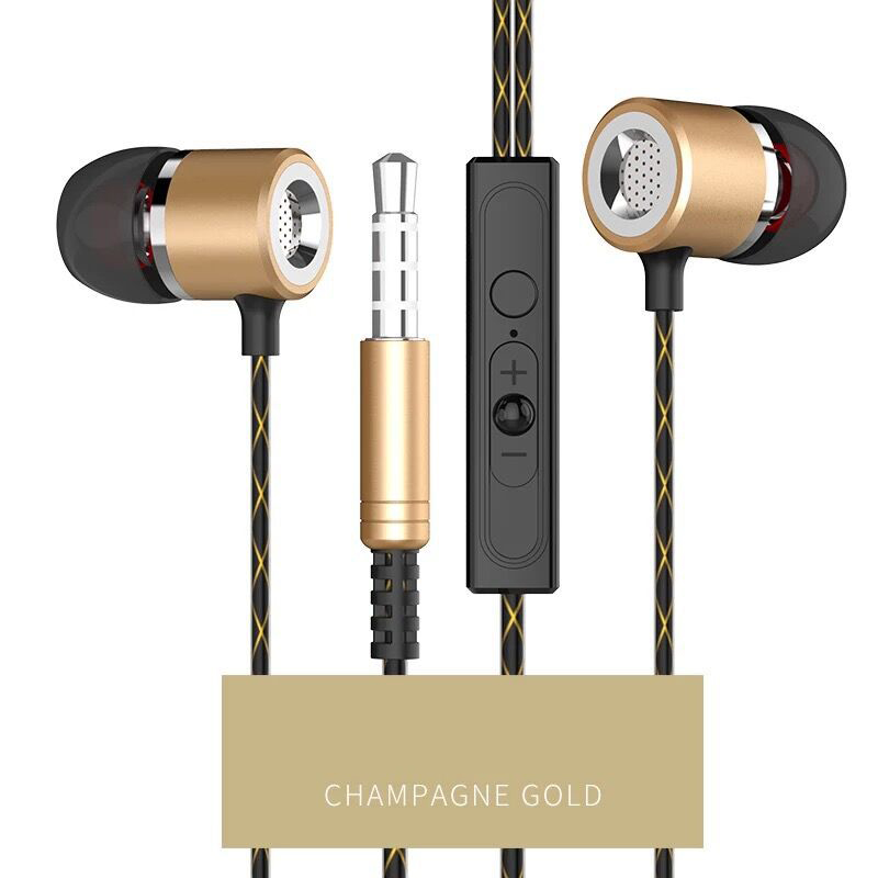 Metal Stereo Bass Earphones original HIFI 3.5mm In-ear Earphone wired With Mic Headset For Phone iPhone Samsung Xiaomi MP3 PC langsdom a10 super bass in ear earphone hifi music earplugs metal headset with mic general for phone iphone xiaomi sony pc mp3
