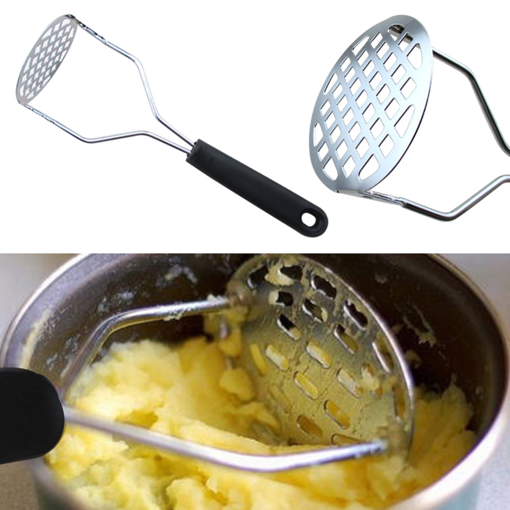 Hot New Multifunction Stainless Steel Potato Masher Ricer Vegetable Fruit Puree Crusher Garlic Presser Kitchen Cooking Tools Z1
