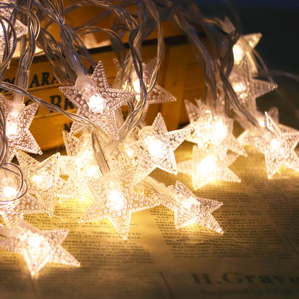 6M LED String Light Night Stars Lantern Holiday Lights 40 LED'er Til - Ferie belysning - Foto 2