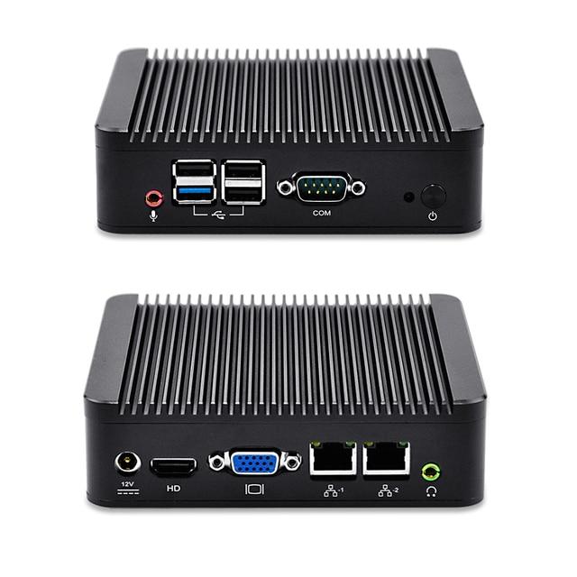 Qotom-q190s top new j1900 2 lan desktop pc quad core 12 v fanless