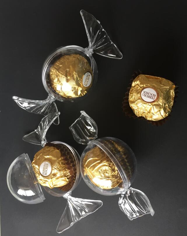 12pcs/set offee candy form of a transparent plastic box Creative BABYshower full moon one year life