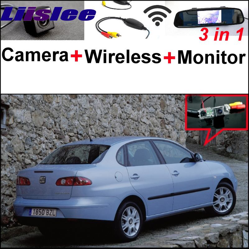 3 in1 Special Rear View Wifi Camera + Wireless Receiver + Mirror Monitor Back Up Parking System For SEAT Cordoba 6K 6L 1999~2014